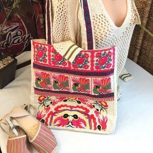 """""""Target"""" 2015 Merona Summer embroidered handbag"""